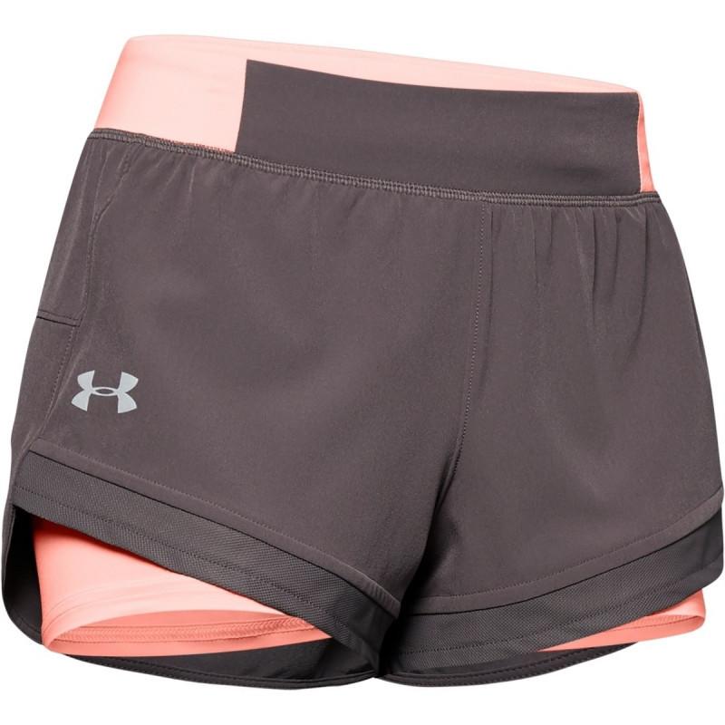 Women's UA Qualifier Speedpocket 2-in-1 Shorts